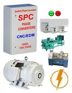 20 Hp Rotary Phase Converter Totally Enclosed Rotary Motor Digital Controlled