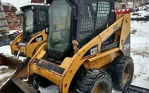 Cat 226 B Skidsteer Bobcat Skid Steer Loader W Cab Heat