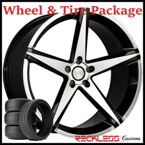 22 Concept One Csm02 Concave Black Wheels And Tires Fits Dodge Charger