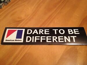Amc Amx Javelin Jeep American Motors Dare To Be Different Magnetic Bumpersticker