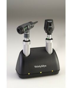 Welch Allyn Desk Set W Coax Ophthalmoscope Macroview Otooscope