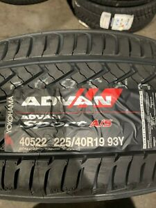 4 New 225 40 19 Yokohama Advan Sport A s Tires
