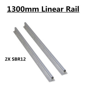 Us Shipping Sbr12 1300mm Slide Guide Fully Supported Linear Rail Shaft Rod Cnc