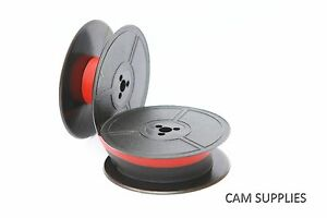 Oliver Portable 4 Courier Typewriter Ribbon Twin Spool Red black Or Plain Black