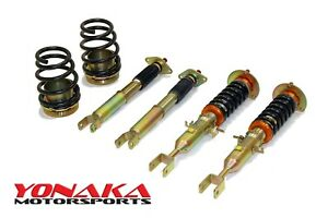 Yonaka Fits Nissan 350z Adjustable Suspension Coilovers Shock Struts Springs G35