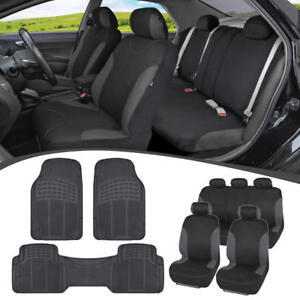 Car Suv Seat Covers For Auto Heavy Duty Rubber Floor Mats Full Interior Set