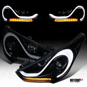 For 2012 2015 Hyundai Veloster Led Black Smoke Projector Headlights