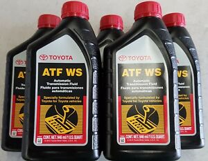 5 Quarts Toyota Scion Automatic Transmission Fluid Atf World Standard Oem New