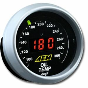 Aem 30 4402 Oil Transmission Water Temperature Gauge 2 1 16 52mm Housing