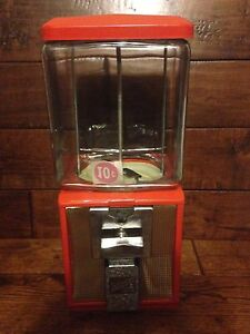 Vintage Glass Northwestern Model 60 Ten Cent Nut Gum Antique Vending Machine