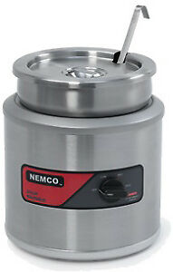 Nemco 6102a icl 220 7 Qt Round Cooker warmer W Inset