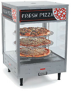 Nemco Rotating 3 Tier Pizza Display Case 18 1 2 X 18 1 2 X 33 7 8 Inch 1