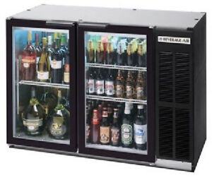Beverage air Commercial Refrigeration Glass Door 23 Back Bar Bb48gy 1 b