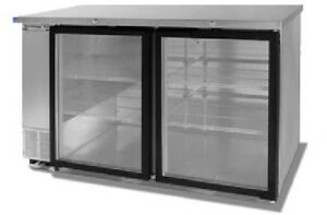 Beverage air Commercial Refrigeration 58 Glass Door Back Bar Bb58g 1 s