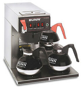 Bunn 12 Cup Automatic Coffee Brewer With 3 Warmers cwtf15 3 0216