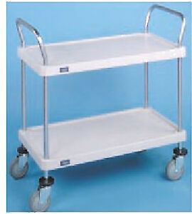Nexel Utility Cart Two Solid Plastic She 1836p2sp