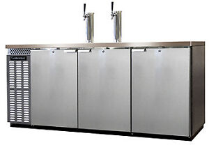 Continental Draft Beer Cooler 59 Wide Kc79 ss