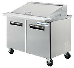 Maxximum 36 Megatop Sandwich Prep Table Model Number Mcr36m