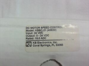 Kb Electronics Dc Motor Speed Control