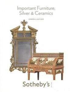 Sotheby S Catalogue Important Furniture Silver Ceramics Globes 2010 Hb