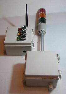 Tower Stack Light With Wireless Switch Control Box