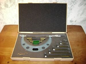 Mitutoyo 0 6 Inch Micrometer Set No 104 137 W Standards