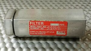 3m Purification Cuno 51576 01 Inline Fluid Filter 5000 Psig 4330 01 225 9490