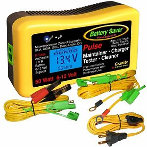 Save A Battery 2365 Lcd 6 12 Volt Vehicle Battery Charger Maintainer Tester
