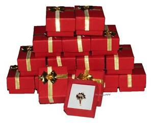 Lot Of 500 Boxes Bow Tie Ring Box Red Gift Box Red Jewelry Box Wholesale Boxes