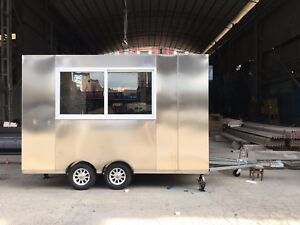 Bn 3mx1 8m Stainless Steel Concession Stand Trailer Mobile Kitchen Ship By Sea