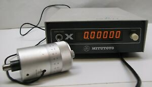 Mitutoyo Micrometer Digital Readout Model Erc 5601 With Digimatic Head 164 104