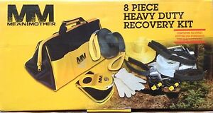 Mean Mother 8 piece Heavy Duty Off road Recovery Strap Kit W snatch Block