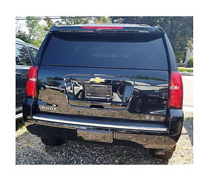 Rear Bumper Trim Molding Chrome Strip Fits 2015 2020 Chevrolet Tahoe Suburban
