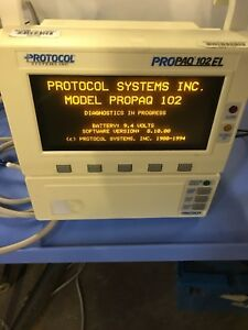 Protocol Propaq 102el Multi parameter Patient Monitor Welch Allen W Power Supply