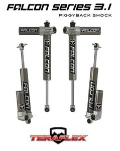 Teraflex Falcon 3 1 Front Rear Shocks 1 5 2 5 Lift Fits 07 18 Jeep Jk 2 Door