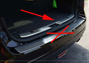 Steel Bumper Protector Cover Trim For Ford Edge 2011 2012 2013 2014 Inner