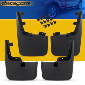 4pcs Splash Guards Mud Flaps Without Wheel Lips For Ford F 150 2015 2018