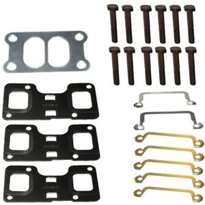 Exhaust Manifold Gasket Kit 1416348 With Bolts Fits In Caterpillar Cat 3116 3126