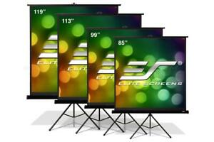 Elite Screens T113uws1 pro Tripod Pro Series 113 1 1 Portable Projector Screen
