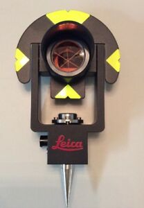 Genuine Leica Gmp101 Surveying Mini Prism Set For Total Station Tool New Other