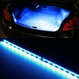Blue 18 Smd Led Strip Light For Car Trunk Cargo Area Or Interior Illumination