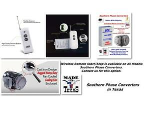 25hp Phase Converter wireless Remote Start Available cnc Industrial Digital