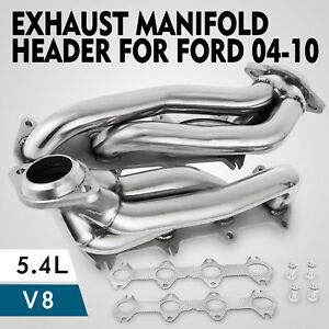 For Ford F150 2004 2010 5 4l V8 Exhaust Manifolds Headers Shorty Truck Car