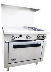 New Commercial 36 Combination Range With 2 Burners 24 Griddle Made In Usa