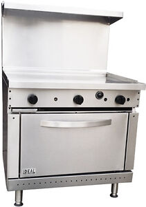 New Commercial 36 Griddle Range With Oven Made In Usa By Ideal Etl Approved