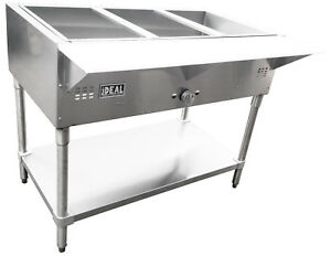 Commercial Gas Steam Tables Made In Usa Etl Approved Bain Marie Style 1 Tank
