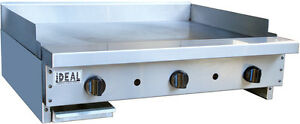 New 36 Commercial Flat Griddle Plate By Ideal Made In Usa Nsf