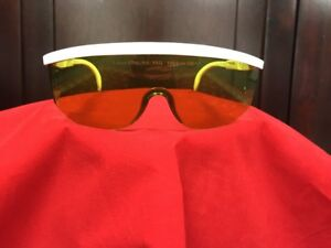 Laser med 1064nm Nd yag Laser Safety Glasses light Green With White Arms