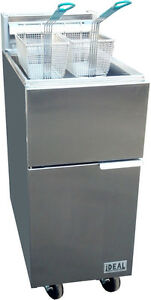New Deep Commercial Fryer 3 tube 40 Lbs Capacity By Ideal Cooking Products