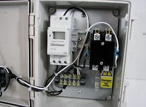 Digital Timer Control Panel With Contactor Relay 2 pole 20a Contactor